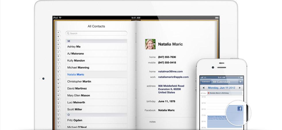 Facebook gallery contacts