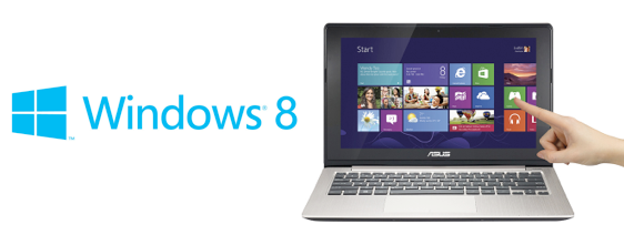Win8 touch title