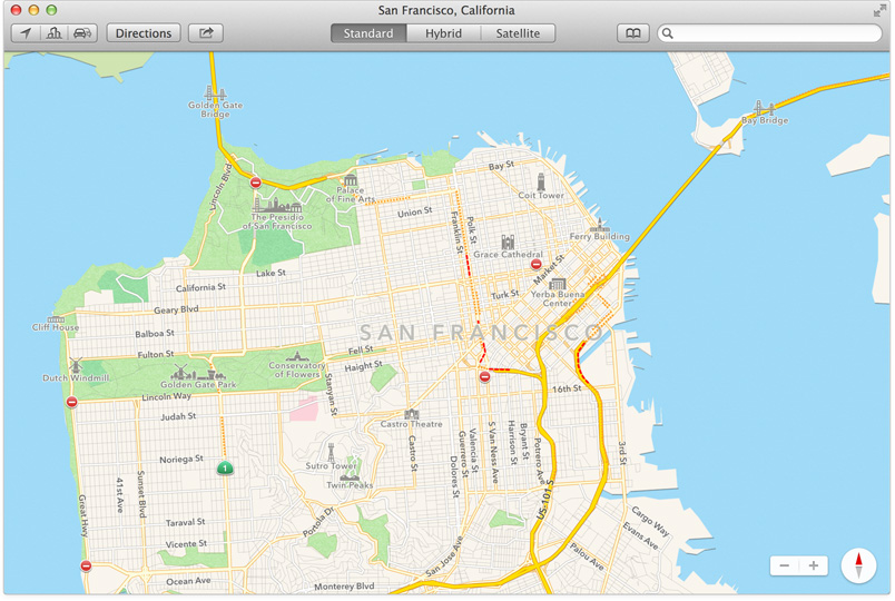 Maps features
